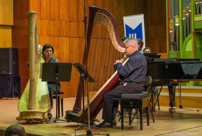 Ioana Nicolescu și Ion Ivan Roncea la Festivalul de Harpă București 2016, ediția a II-a