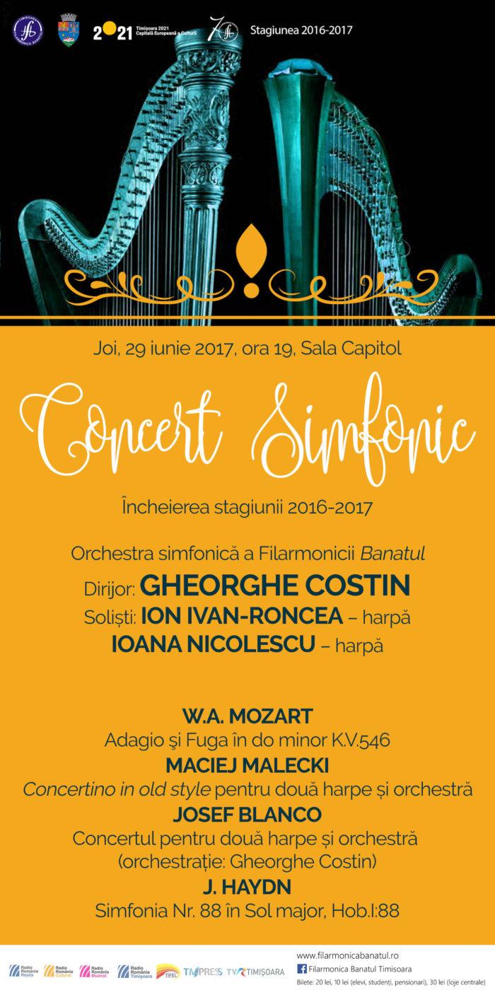 Concert Simfonic Banatul Timișoara 29 iunie 2017