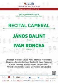 Recital cameral Janos Balint & Ion Ivan Roncea - Sibiu