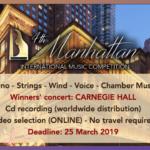 Concurs Internațional de Muzică Manhattan ediția a IV-a