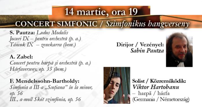 Harpistul Viktor Hartobanu în concert