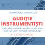 Audiție harpă-Filarmonica Brașov-Asociatia Harpistilor din Romania